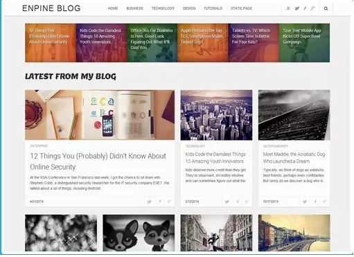 Enpine blogger template
