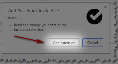 Install Invite All Friends on Facebook Extension