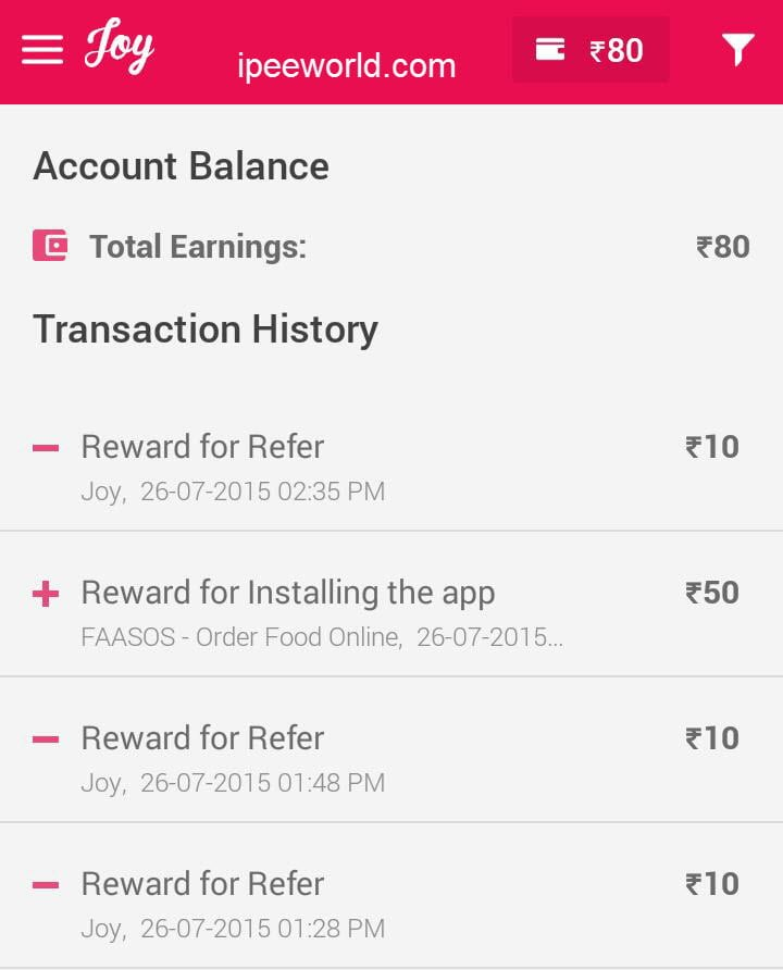 Joy App Proof - Free Recharge