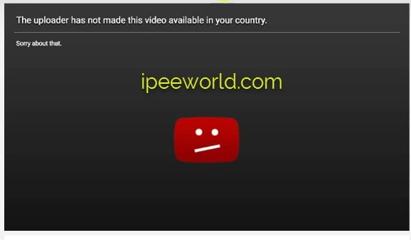 This Video is Not Available in Your Country Fix