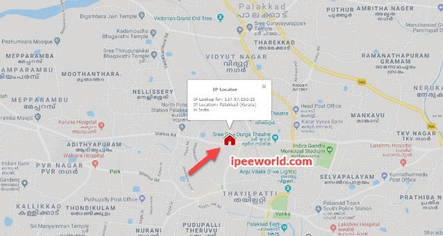 Live Location of Phone in Map