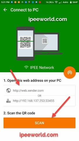 Xneder Connect PC URL IP Address