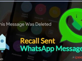 Recall Sent WhatsApp Messages