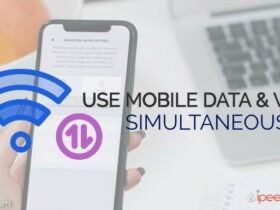 use mobile data and wifi same time