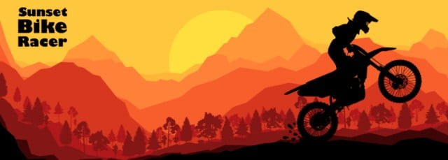 sunset bike rider browser game