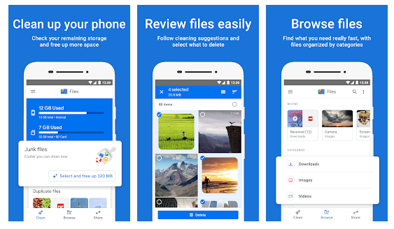 files by google features