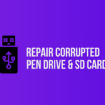 repair corrupted pendrive sd card