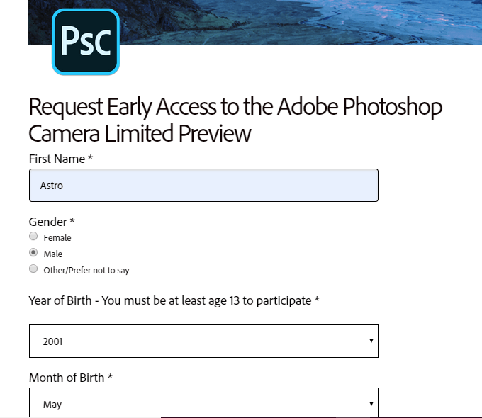 download adobe photoshop camera apk