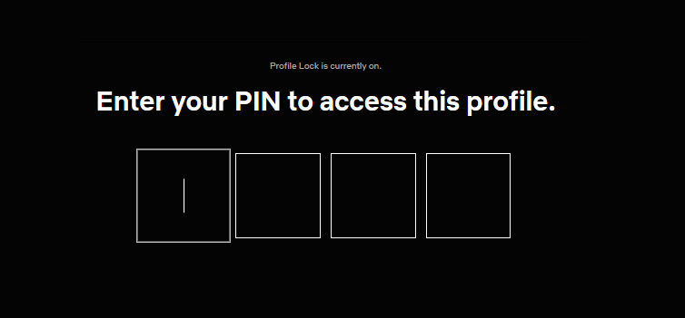 access pin protected netflix profile
