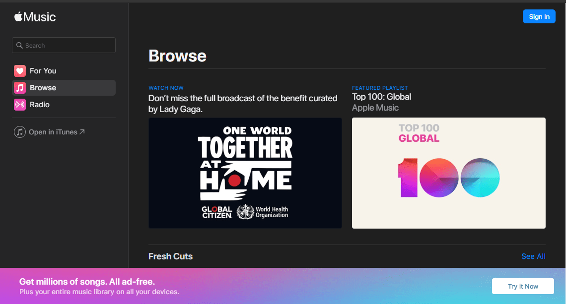 apple music web is now live