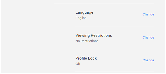 change profile lock settings in netflix