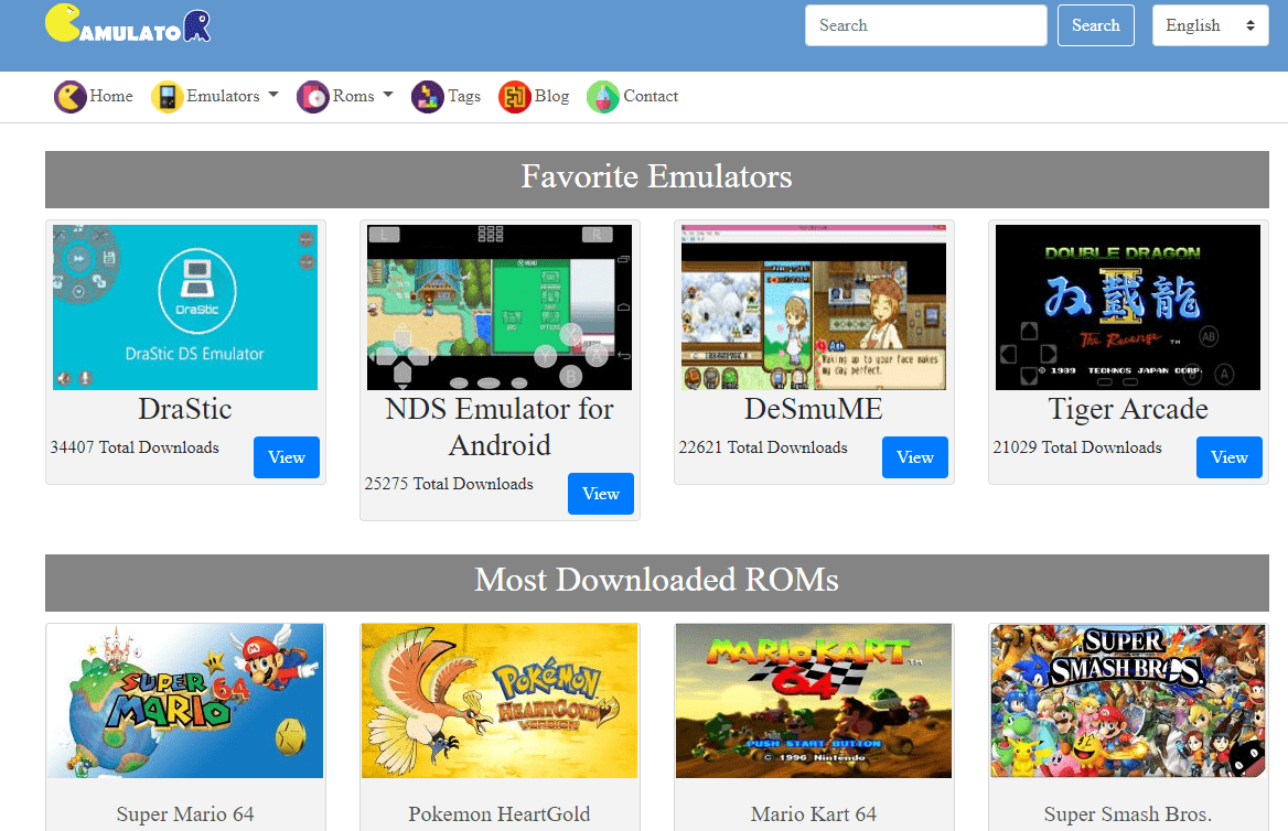 gamulator rom site