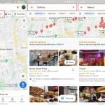 google maps takeout and delivery buttons update