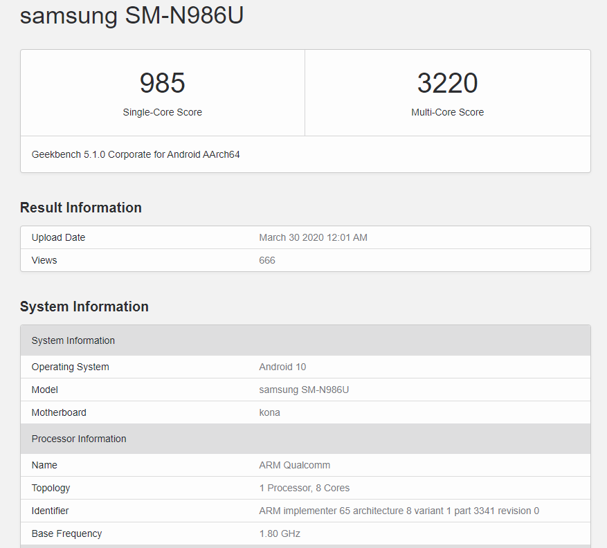 samsung galaxy note 20 5g specifications