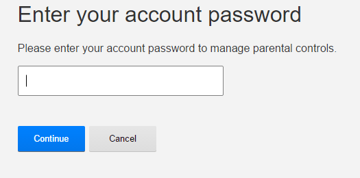 type netflix password