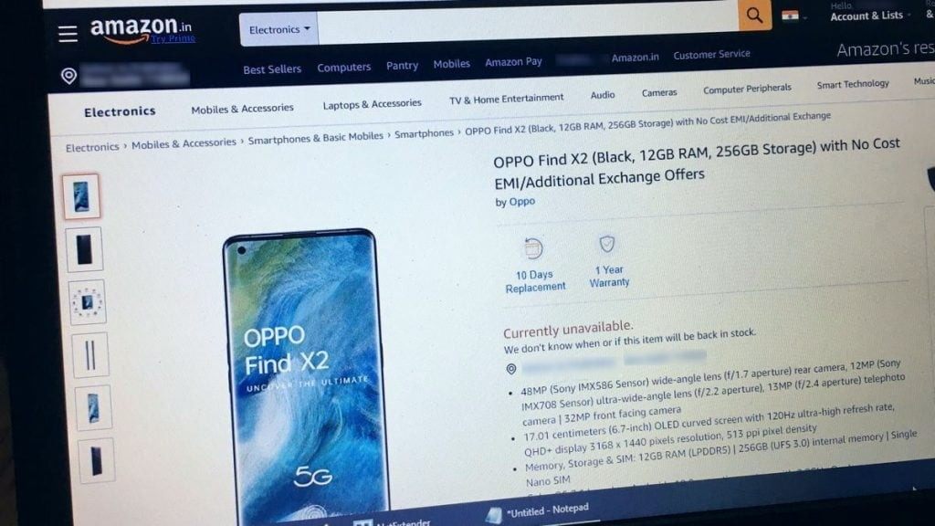 Oppo Find X2 Price leaked