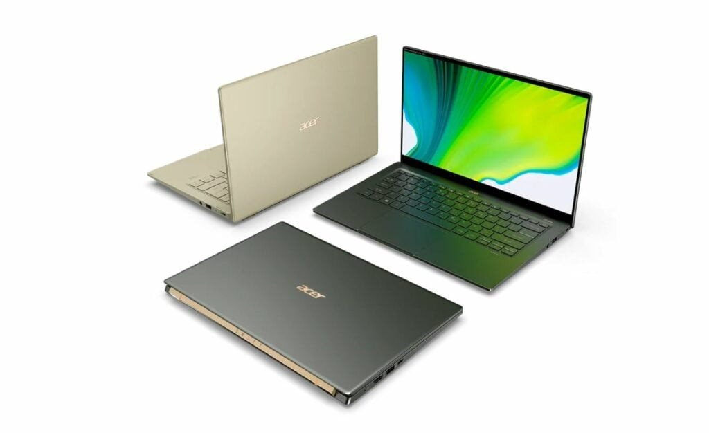 Acer Swift 5 lineup with Intel 11th Gen CPUs