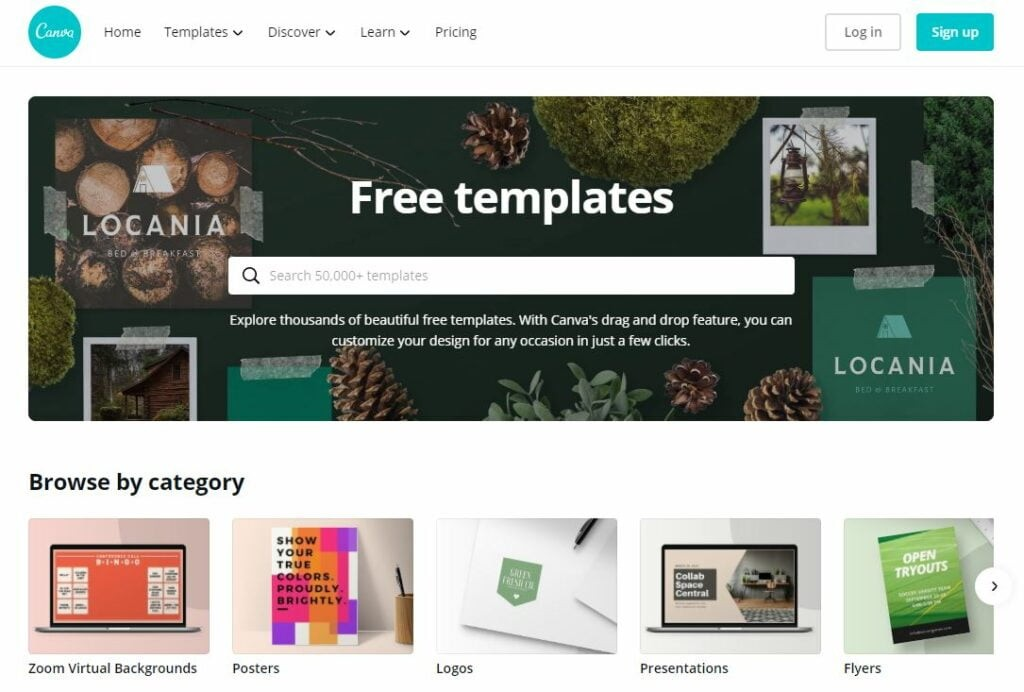 graphic design templates in canva