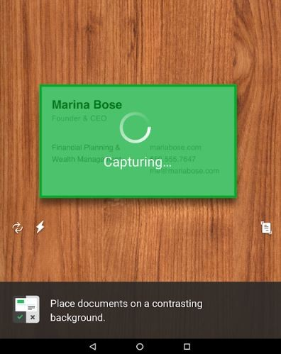 Evernote Document Scan