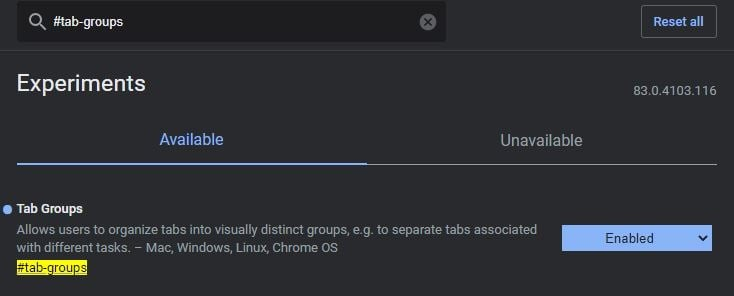 Group Tabs in Google Chrome