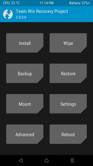 twrp recovery installed on android