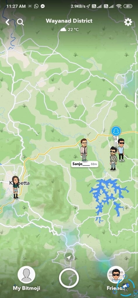 check if a person is online on snapchat