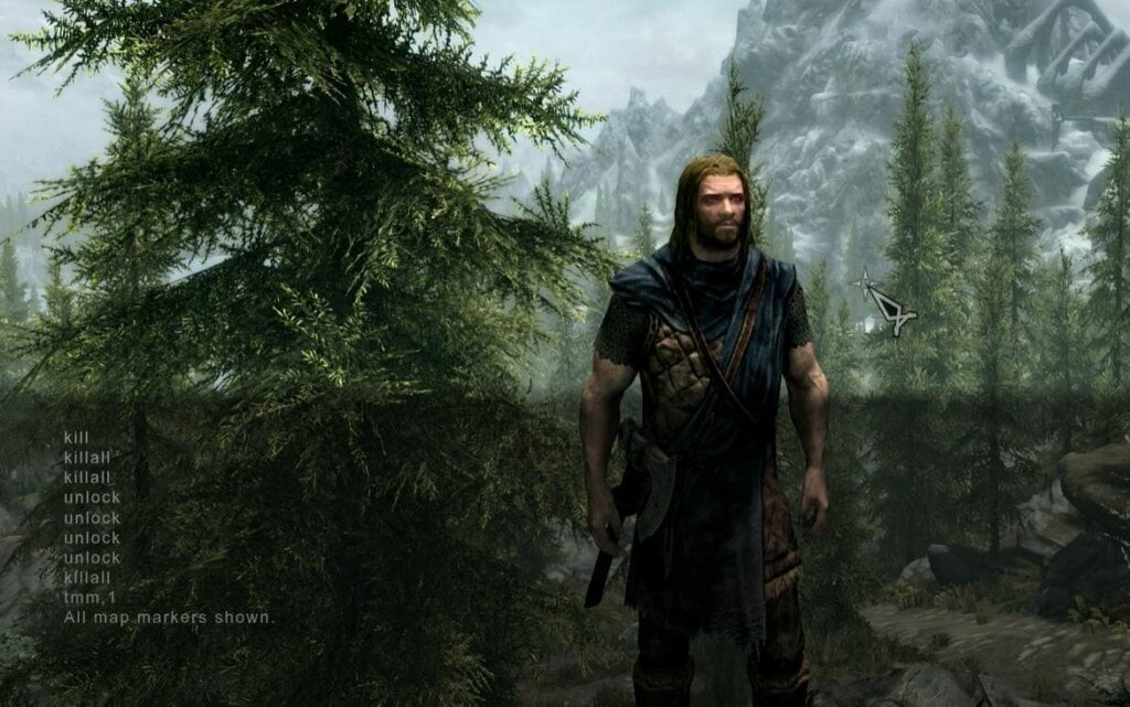 use skyrim console commands