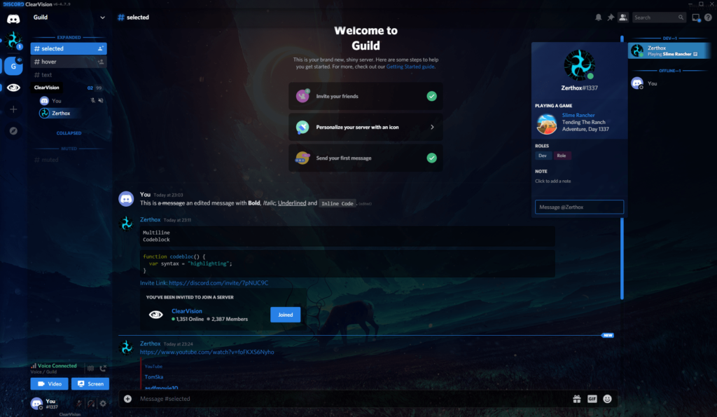clearvision discord theme