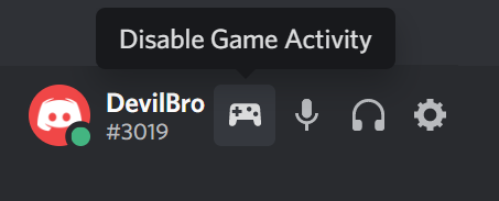 Game Activity Toggle