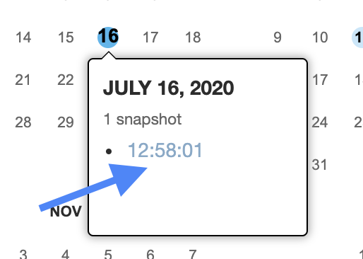 select a date