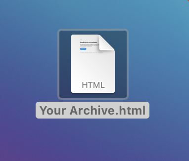 twitter archive html file