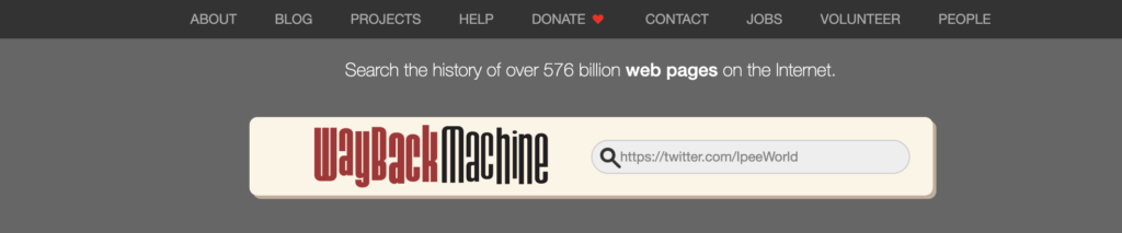 Use wayback machine to recover deleted tweets