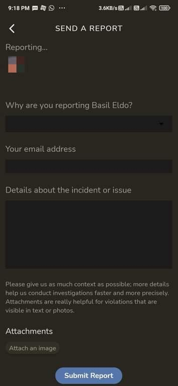 report an user on clubhouse