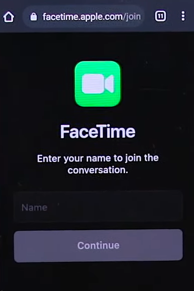 Join the FaceTime Call