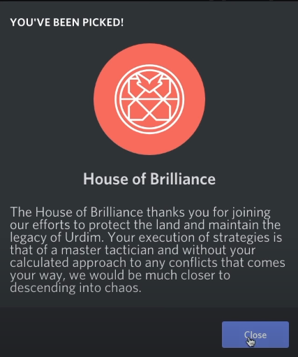 Added to House of Brilliance
